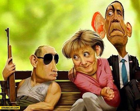 putin-merkel-obama-caricature
