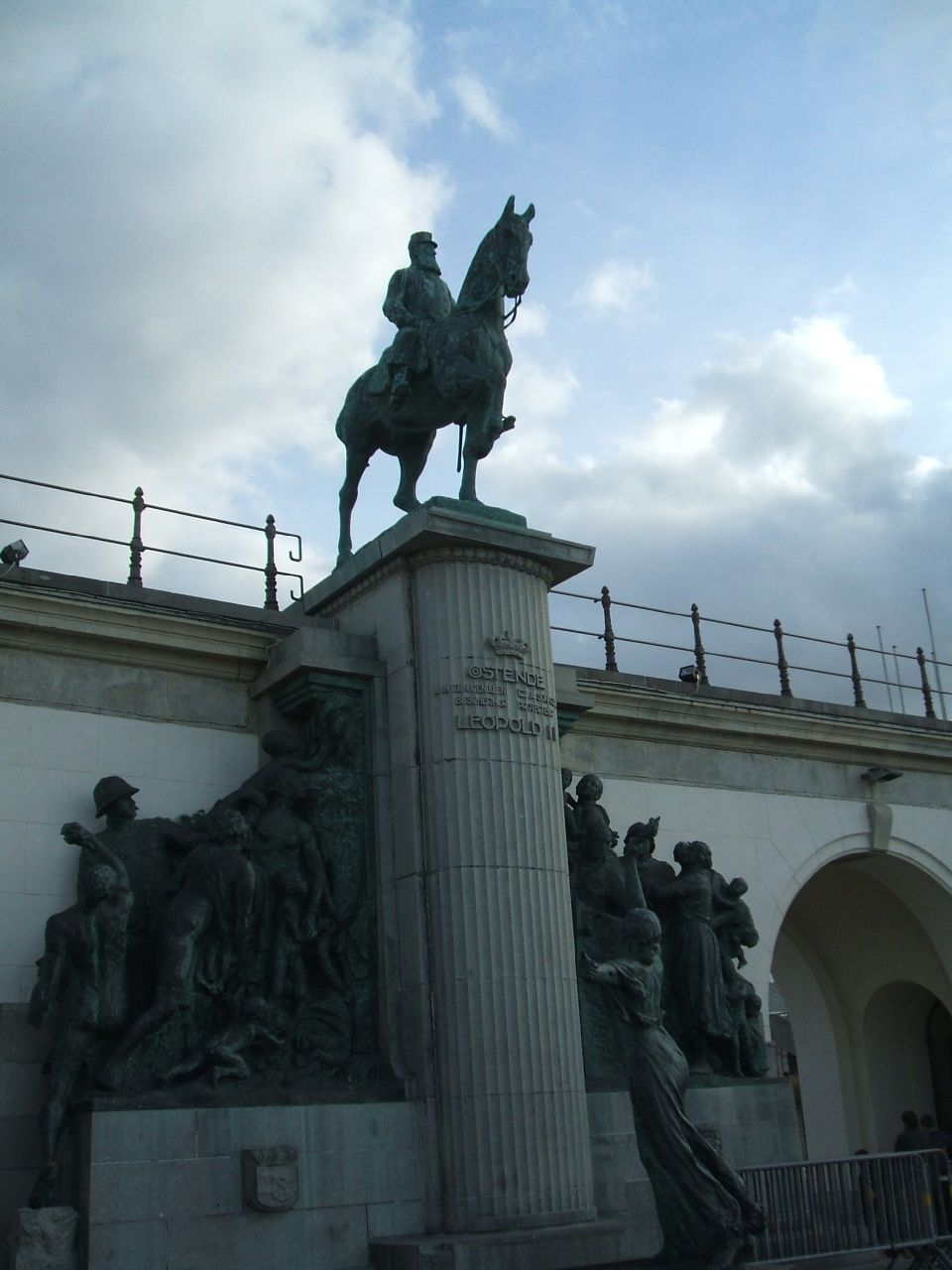 Statue of Leopold II in Ostend (photo by Cheryl Cooper)